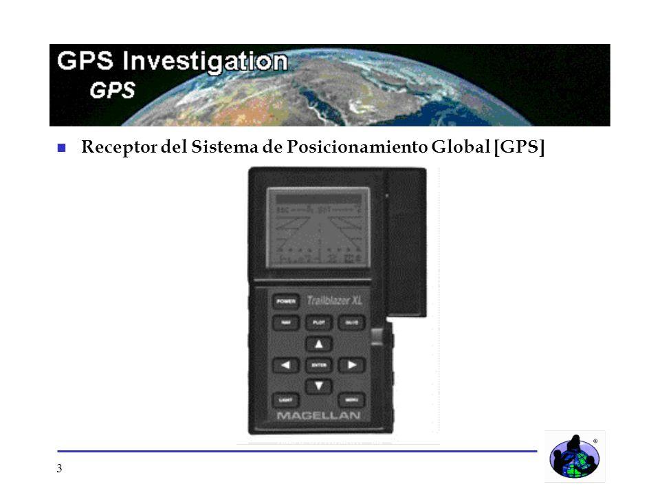 Receptor del Sistema de Posicionamiento Global [GPS]